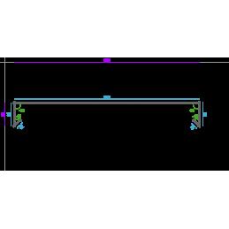 Eclisse de jonction intérieure, 100mm